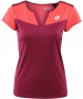 Lotto Women's Natty T-Shirt (Velvet/ Rose) - Women's Tops T-Shirts & Crew Necks Tennis Apparel
