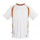 DUC Precise Men's Tennis Crew (Orange) - DUC Men's Tennis T-Shirts & Crew Necks