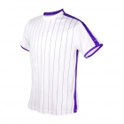 DUC Jailbird Men's Tennis Crew (White/Purple) - Men's Team Apparel