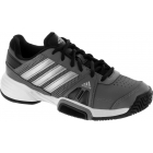 Adidas Barricade Team 3 Juniors Tennis Shoes (Grey/ Silver/ Black) - Tennis Shoes for Kids