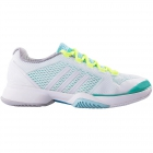 Adidas Women's Barricade 2015 Tennis Shoes (White/ Mint/ Aqua) - Women's Tennis Shoes