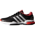 Adidas Barricade Team 4 Men's Tennis Shoes (Black/ Red/ Silver) - Adidas Tennis Shoes