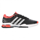 Adidas Barricade Team 4 Men's Tennis Shoes (Black/ Silver/ Red) - Adidas Barricade Team Tennis Shoes