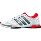 Adidas Barricade Team 4 Men's Tennis Shoes (White/ Silver/ Red) - Men's Tennis Shoes