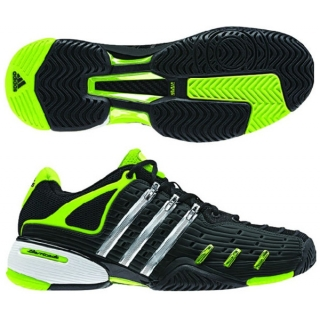 Adidas Barricade V Mens Tennis Shoes (Black/ Silver/ Lime)