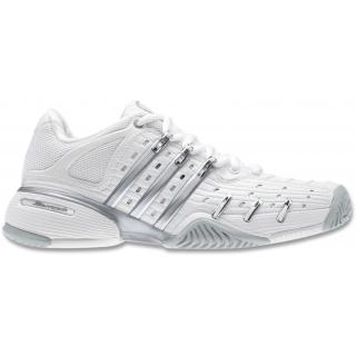Adidas Women's Barricade V Tennis Shoes (White/Silver)
