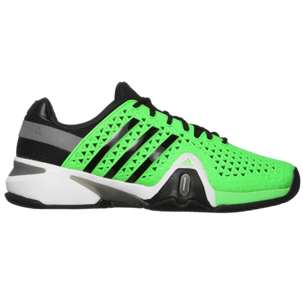 Adidas Men's Barricade 8+ Tennis Shoes (Grn/ Blk/ Gry)