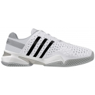 Adidas Men's Barricade 8+ Tennis Shoes (Wht/ Blk/ Onix) - Adidas Barricade Tennis Shoes