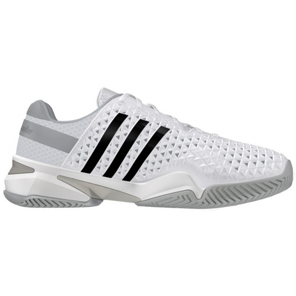 Adidas Men's Barricade 8+ Tennis Shoes (Wht/ Blk/ Onix)