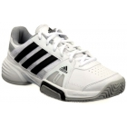 Adidas Barricade Team 3 Juniors Tennis Shoes (Wht/ Blk/ Gry) - Adidas Tennis Shoes