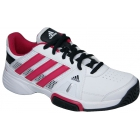 Adidas Barricade Team 3 Juniors Tennis Shoes (Wht/ Pnk/ Blk) - Tennis Shoes for Kids