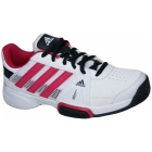 Adidas Barricade Team 3 Juniors Tennis Shoes (Wht/ Pnk/ Blk) - Tennis Shoes