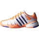 Adidas Women's Barricade V Classic Tennis Shoes (Peach/ White/ Navy) - Tennis Shoe Guarantee