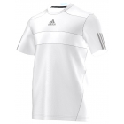 Adidas Men's Barricade Tee (White/ Grey) - Men's Tops T-Shirts & Crew Necks Tennis Apparel