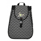 40 Love Courture Chevron Maddie Backpack - Designer Tennis Bags - Luxury Fabrics and Ultimate Functionality