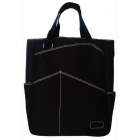 Maggie Mather Tennis Tote with Zipper Closure (Black) - Maggie Mather