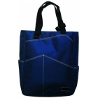 Maggie Mather Tennis Tote with Zipper Closure (Navy) - Maggie Mather