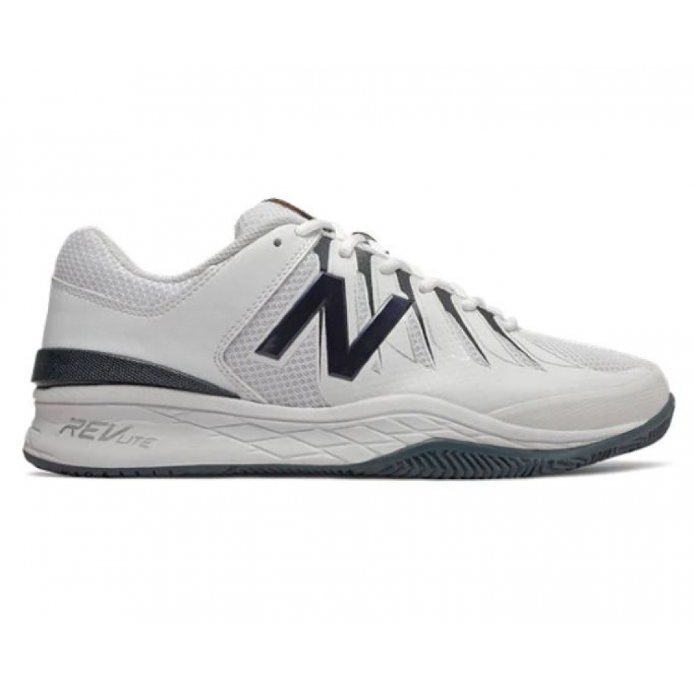 New Balance Men's MC1006BW (4E) Tennis Shoes (White/Black)