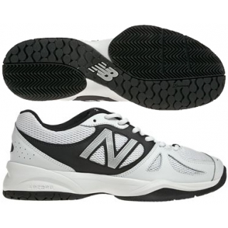 New Balance Mens MC696WS (D) Tennis Shoes (White/ Silver)
