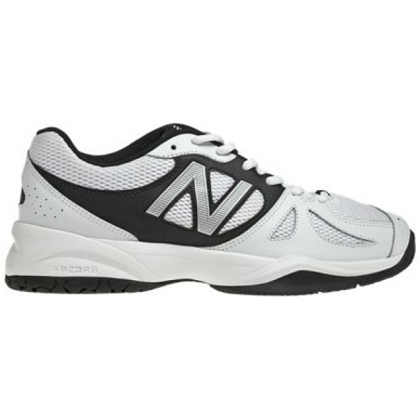 New Balance Mens MC696WS (2E) Tennis Shoes (White/ Silver)