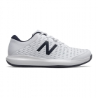 New Balance Men's MCH696W4 (2E) Tennis Shoes (White/ Blue) - Performance Tennis Shoes