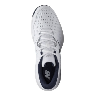 New Balance Men's MCH696W4 (D) Tennis Shoes (White/ Blue)