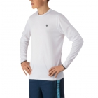 K-Swiss Men's Long Sleeve Tennis Crew (White) - Men's Long-Sleeve Shirts