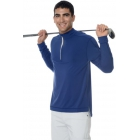 BloqUV Men's UV Protection Mock Zip Long Sleeve Shirt (Navy) - Men's Long-Sleeve Shirts