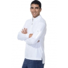Bloq-UV Men's Mock Zip Long Sleeve Top (White) - Men's Tops