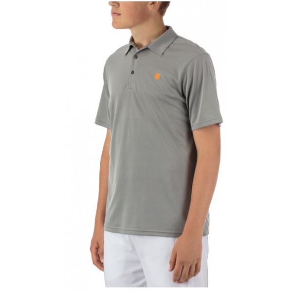 K-Swiss Men's Performance 2-Tone Tennis Polo (Dark Shadow)