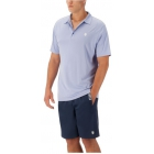 K-Swiss Men's Performance 2-Tone Tennis Polo (Dazzling Blue) - Men's Polo Shirts