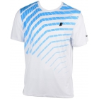 Prince Men's Graphic Crew (White/Blue) - Men's Tennis Apparel