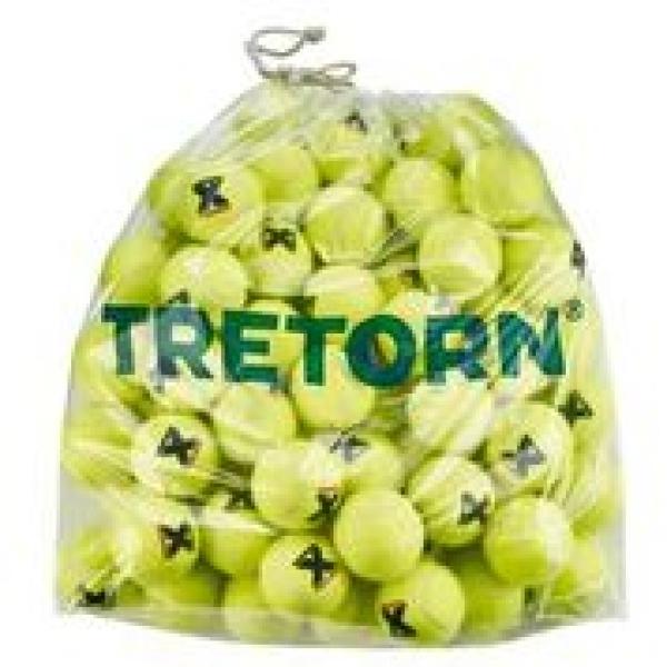 Tretorn Micro-X Pressureless Tennis Balls, Yellow (Bag of 72)