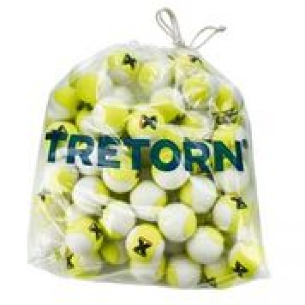 Tretorn Micro-X Pressureless Tennis Balls, Yellow/White (Bag of 72)