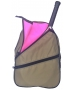 Maggie Mather Tennis Backpack (Khaki/Blooming Pink) - Maggie Mather