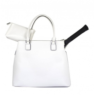 Court Couture Monte Carlo Tennis Bag (Ivory)
