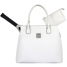 Court Couture Monte Carlo Tennis Bag (Ivory) - Designer Tennis Bags - Luxury Fabrics and Ultimate Functionality