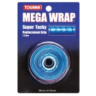 Tourna Mega Wrap Tennis Racquet Replacement Grip (Blue) - Absorbent Replacement Grips