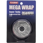 Tourna Mega Wrap Tennis Racquet Replacement Grip (Black) -