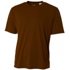 A4 Men's Performance Crew Shirt (Brown) - Men's Tops T-Shirts & Crew Necks Tennis Apparel