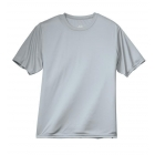 A4 Men's Performance Crew Shirt (Silver) - Men's Tops T-Shirts & Crew Necks Tennis Apparel