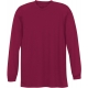 A4 Men's Performance Long Sleeve Crew (Cardinal) - A4