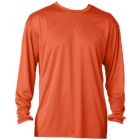 A4 Men's Performance Long Sleeve Crew (Orange) - A4 Tennis Apparel