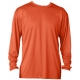 A4 Men's Performance Long Sleeve Crew (Orange) - A4