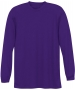 A4 Men's Performance Long Sleeve Crew (Purple) - A4