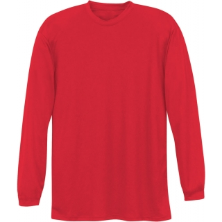 A4 Men's Performance Long Sleeve Crew (Scarlet)