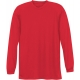 A4 Men's Performance Long Sleeve Crew (Scarlet) - Men's Long-Sleeve Shirts