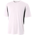 A4 Men's Performance Color Block Crew Shirt (White) - A4 Men's Apparel Tennis Apparel