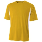 A4 Men's Performance Color Block Crew Shirt (Gold) - A4 Team Tennis Apparel