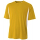 A4 Men's Performance Color Block Crew Shirt (Gold) - Tennis Online Store